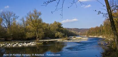 Die Aare im Kanton Aargau