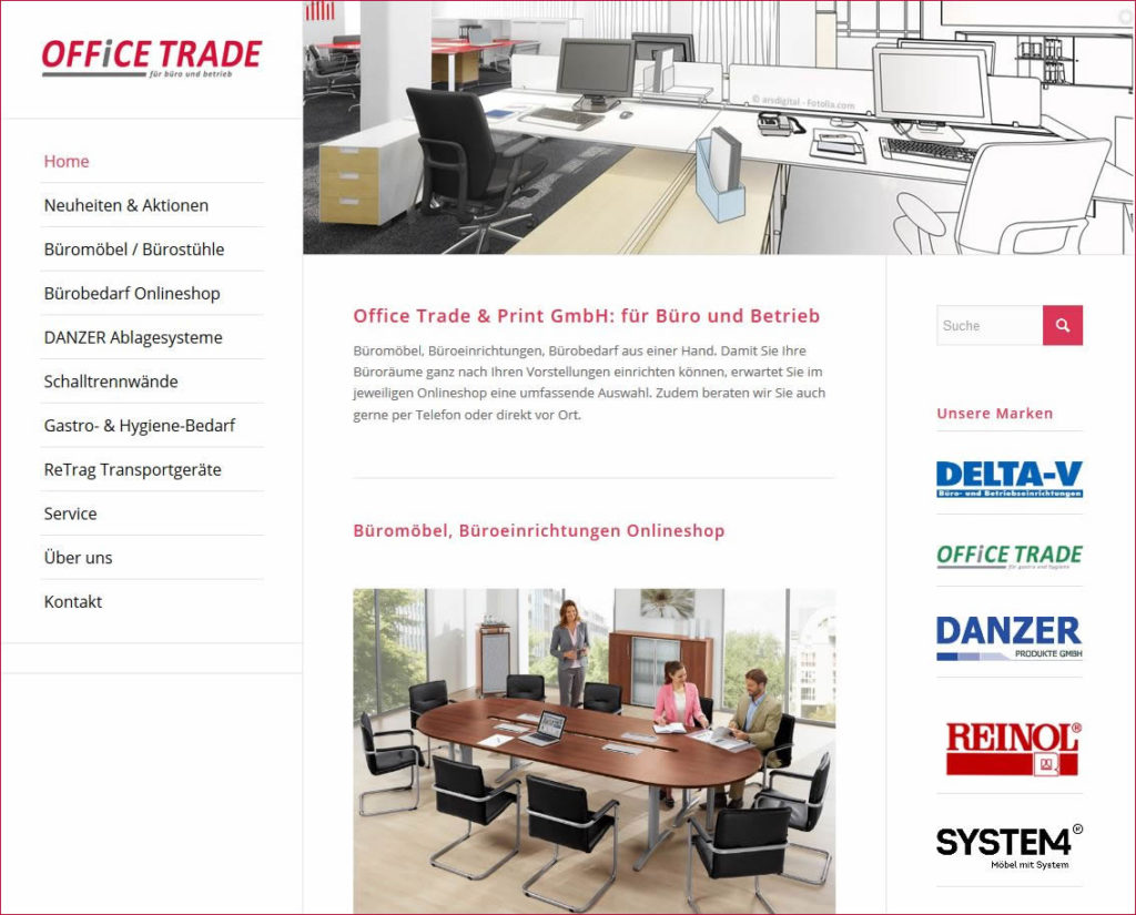 Bürobedarf und Büromöbel von Office Trade für KMU