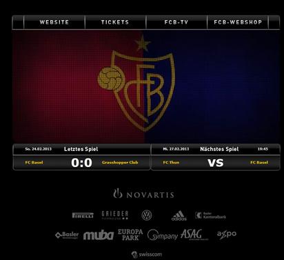 Webseite des FC Basel