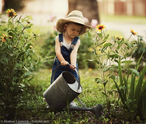 Erste Erfahrungen mit der Natur, dank unserem Garten