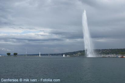 Der Genfersee, das grösste Gewässer Europas.