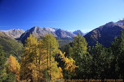 Herbst im Kanton Graubünden