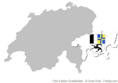 Der Kanton Graubünden liegt vollständig im Gebiet der Alpen