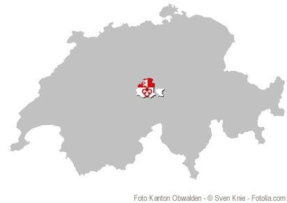 Der Kanton Obwalden, der Binnenkanton, der ganz von Binnenkantonen umgeben ist