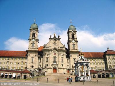 Das Kloster Einsiedeln in der Gemeinde Einsiedeln im Kanton Schwyz
