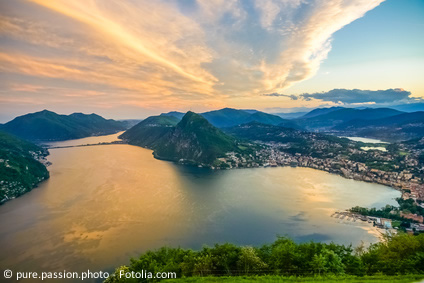 Lugano, Luganersee, einzigartige Stimmung