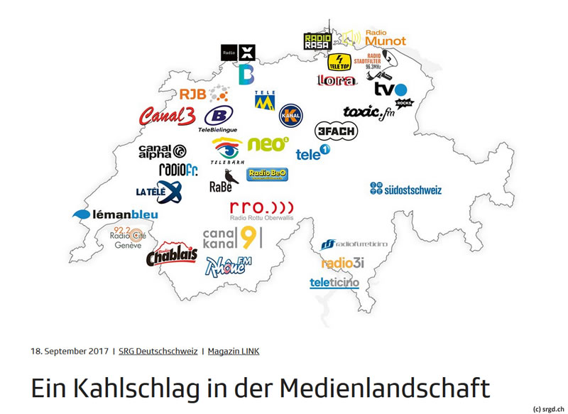No-Billag trifft 21 auch Privatradio und 13 Privat-TV-Sender