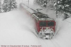 Winter im Kanton Graubünden